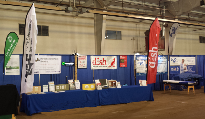Home Enhancement Systems Booth at the 2014 Four Corners Home & Garden Show in Cortez, Colorado